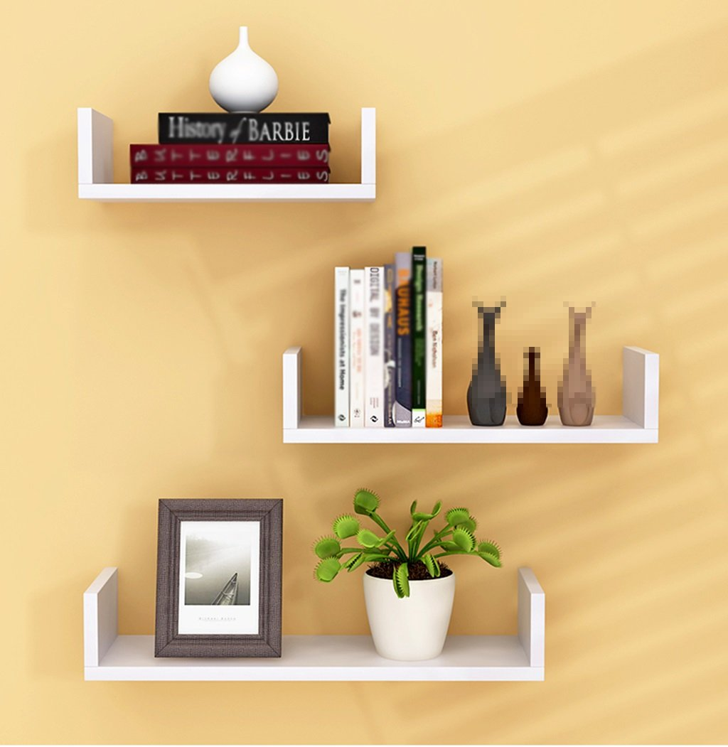 CSQ Indoor Wall Hangings, Pallet Shelf Bedroom Living Room Restaurant Kitchen Decoration Chlorophytum Potted Plants 3 Pieces Flower Shelf by Flowers and friends (Image #3)