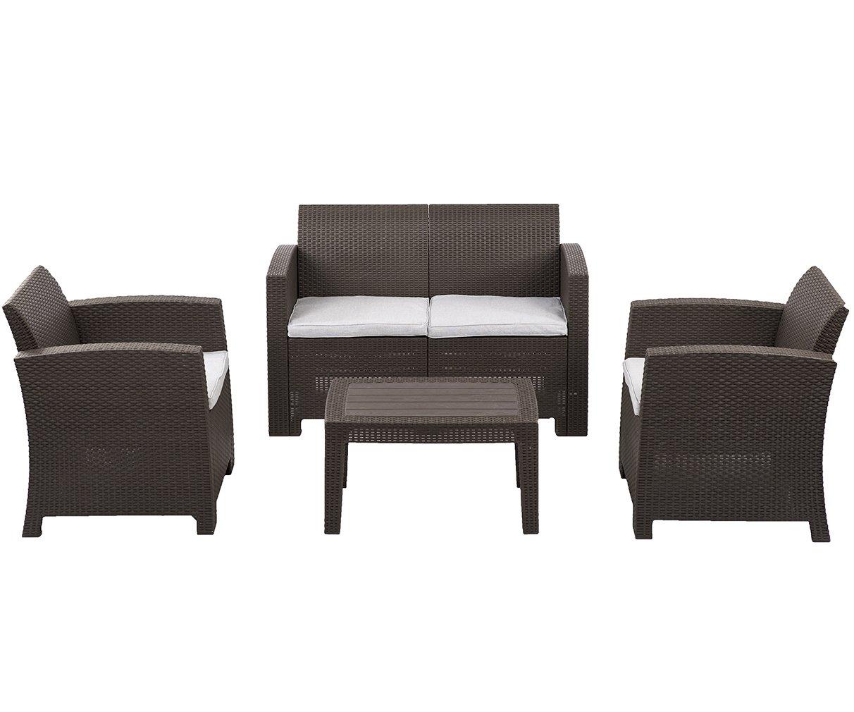 Amazon.com : 5 PC Outdoor Patio Sofa Set Sectional Garden ...