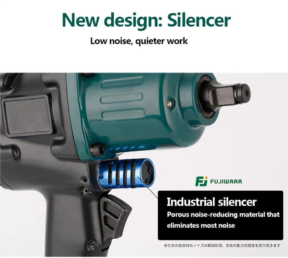 Manchester Clé Pneumatique Niveau Industriel 1000N.M 1/2 Pouce Clé à Choc Pneumatique avec Silencer pour la Dépose de Pneus à Couple élevé de Réparation Automatique FUJ-4100 ZAEos