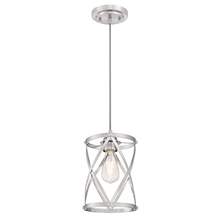 Westinghouse Lighting 6362300 Isadora One-Light Mini, Brushed Nickel Finish Indoor Pendant,