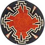 Fair Trade Uganda African Bukedo & Raffia Bowl 15-16'' Across, UR3716