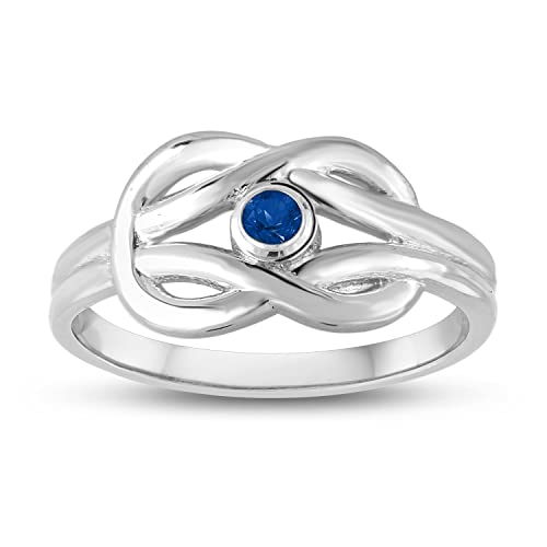 f551cc4272f74 Esty & Me September Simulated Birthstone, Double Love Knot Ring in ...