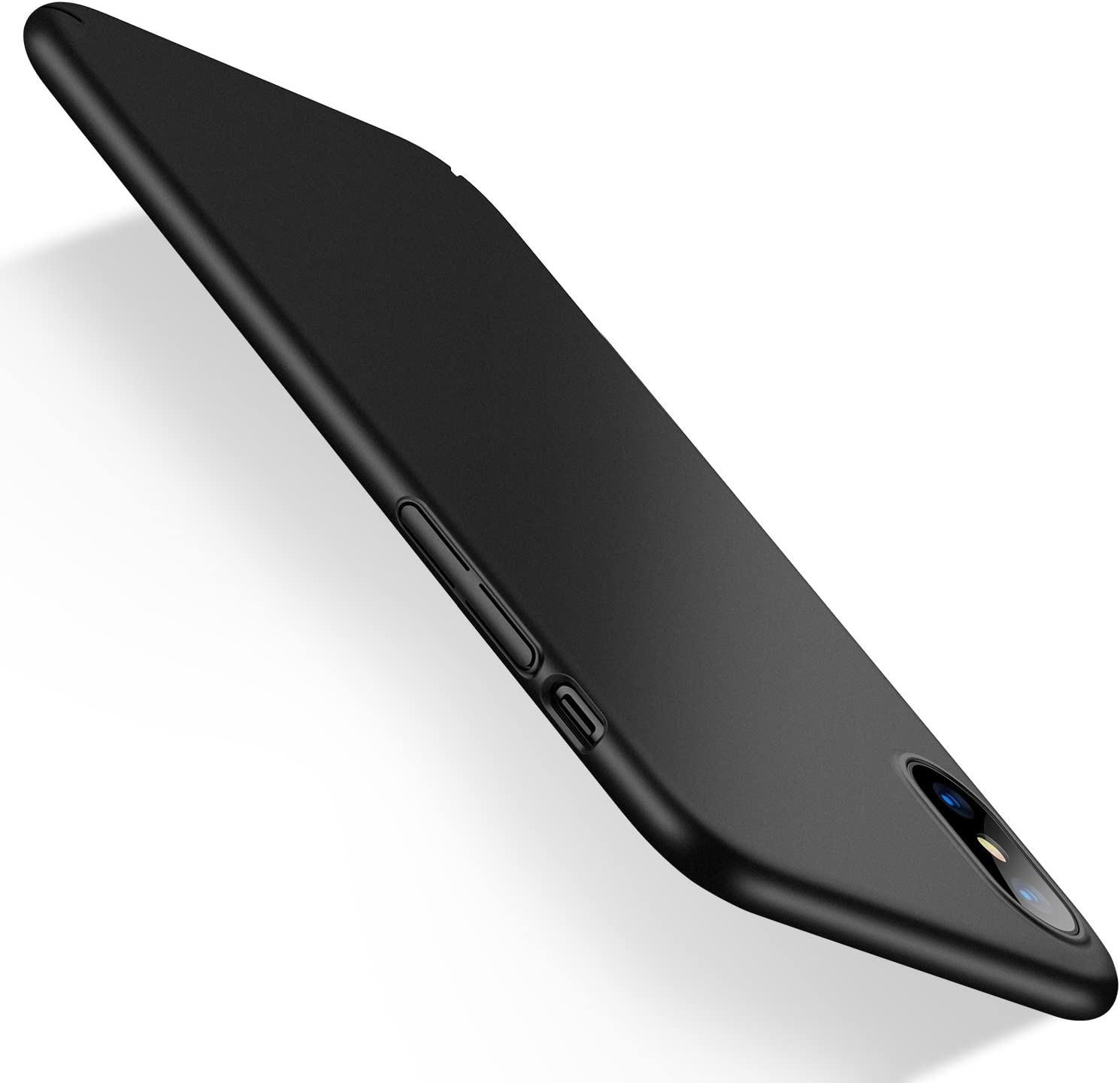 Humixx Ultra-Thin iPhone Xs Max Case, Hard Plastic PC Slim Fit Protective Cover Case with Matte Finish Coating Grip Compatible iPhone Xs Max 6.5 inch 2018- Space Black