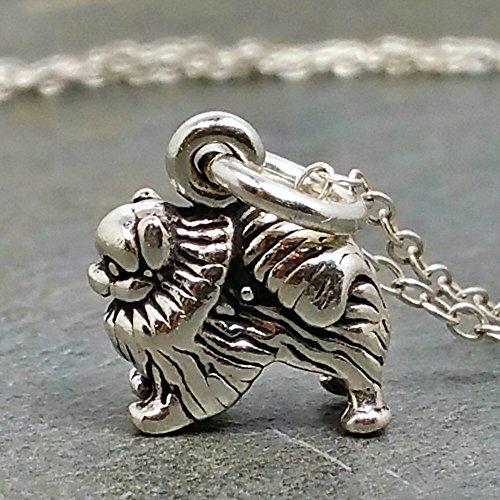 Tiny Pomeranian Necklace - 925 Sterling Silver (Pomeranian Pendant)