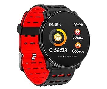 INNJOO Rojo Redondo SPORTWATCH TFT 1.33 Reloj Inteligente Deportivo Bluetooth FRECUENCIA CARDÍACA Y PRESIÓN