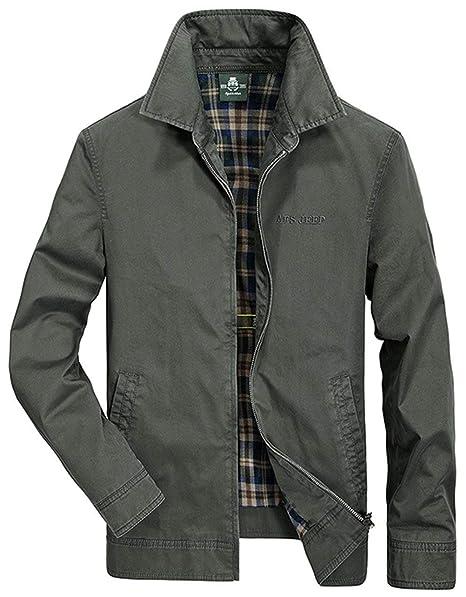 Otoño para Hombre Casual Business Coat Bueno Libre Aire Tops Al Vintage Retro para Hombre Bomber Jacket Solapa Abrigos Chaquetas: Amazon.es: Ropa y ...