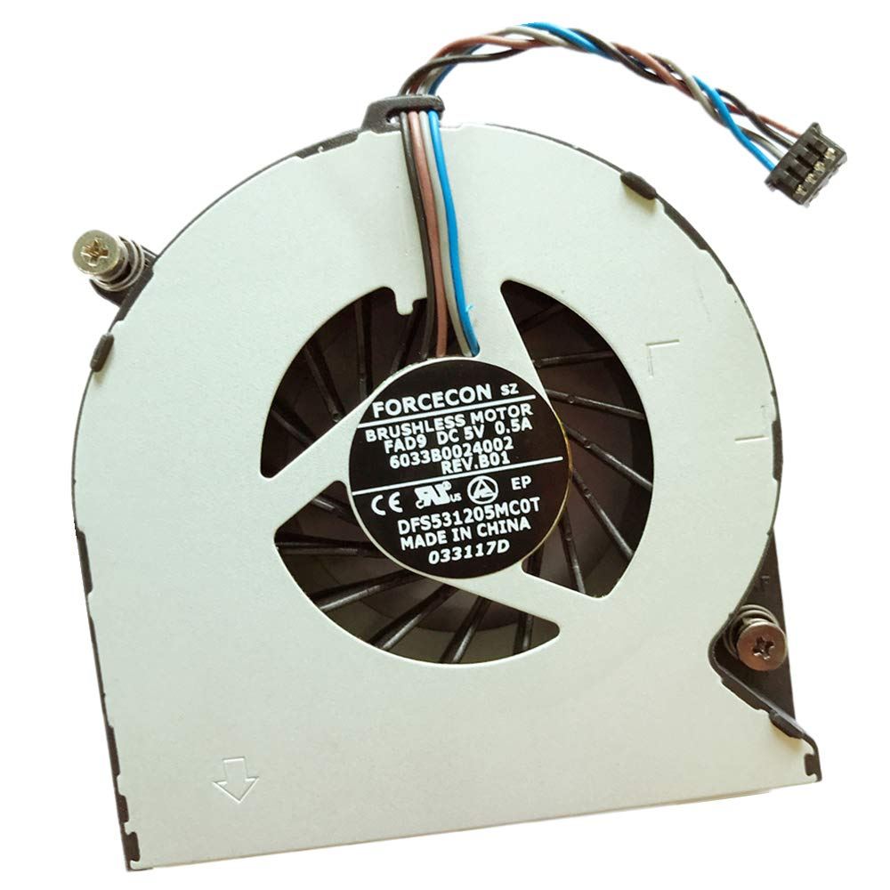 Replacement Compatible Laptop CPU Cooling Fan Cooler for HP EliteBook 4530S 4535S 4730S 6460B 6465b 6470B 8460P 8460W 8470P 8470W 641839-001 KSB0505HB-AJ66 6033B0024002 DFS531205MC0T FAD9 646285-001