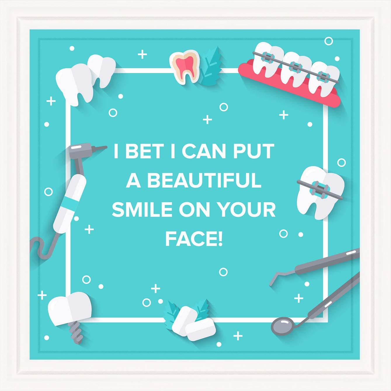"Dentist Gifts | 7x7"""" Tile Artwork Ideal for Dentists 