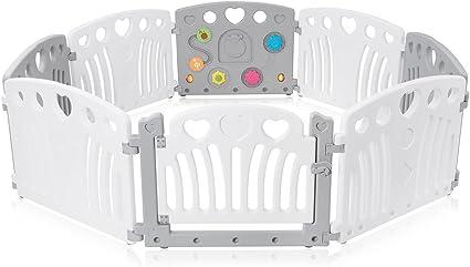 Box Bambini Recinto Cancelletto Protezione Sicurezza Pieghevole Giochi Baby Vivo