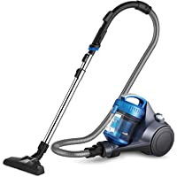 Eureka NEN110A Whirlwind Lightweight Bagless Canister Vacuum Cleaner for Carpets and Hard Floors, Blue (Renewed)