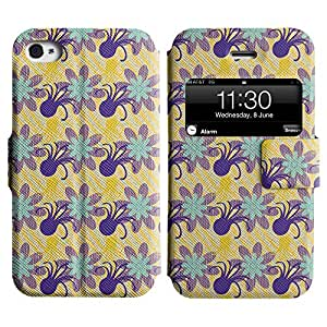 LEOCASE Funda Carcasa Cuero Tapa Case Para Apple iPhone 4 / 4S No.1007638