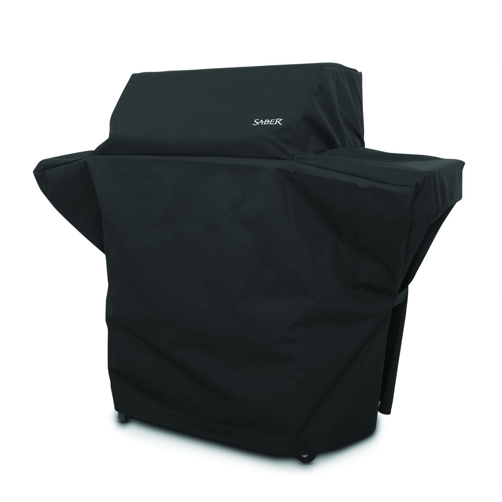 Saber Char-Broil Black Grill Cover 57.5 in. W x 26 in. D x 48 in. H For Fits 500 Size Saber Gril