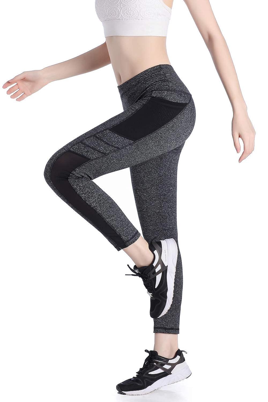 5c9ce149c99bfd SEYO Sporthose Damen Yogahose Leggins Hoher Bund Sport Leggings Blickdicht  Tasche Fitnesshose [1541594146-156131] - €7.37