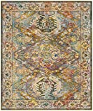 Cheap Safavieh Crystal Collection CRS516A Light Blue and Orange Distressed Bohemian Area Rug (9′ x 12′)