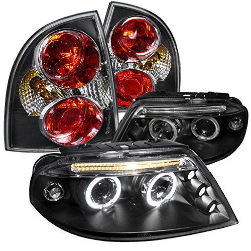 Passat Black Projector Headlight Lamps