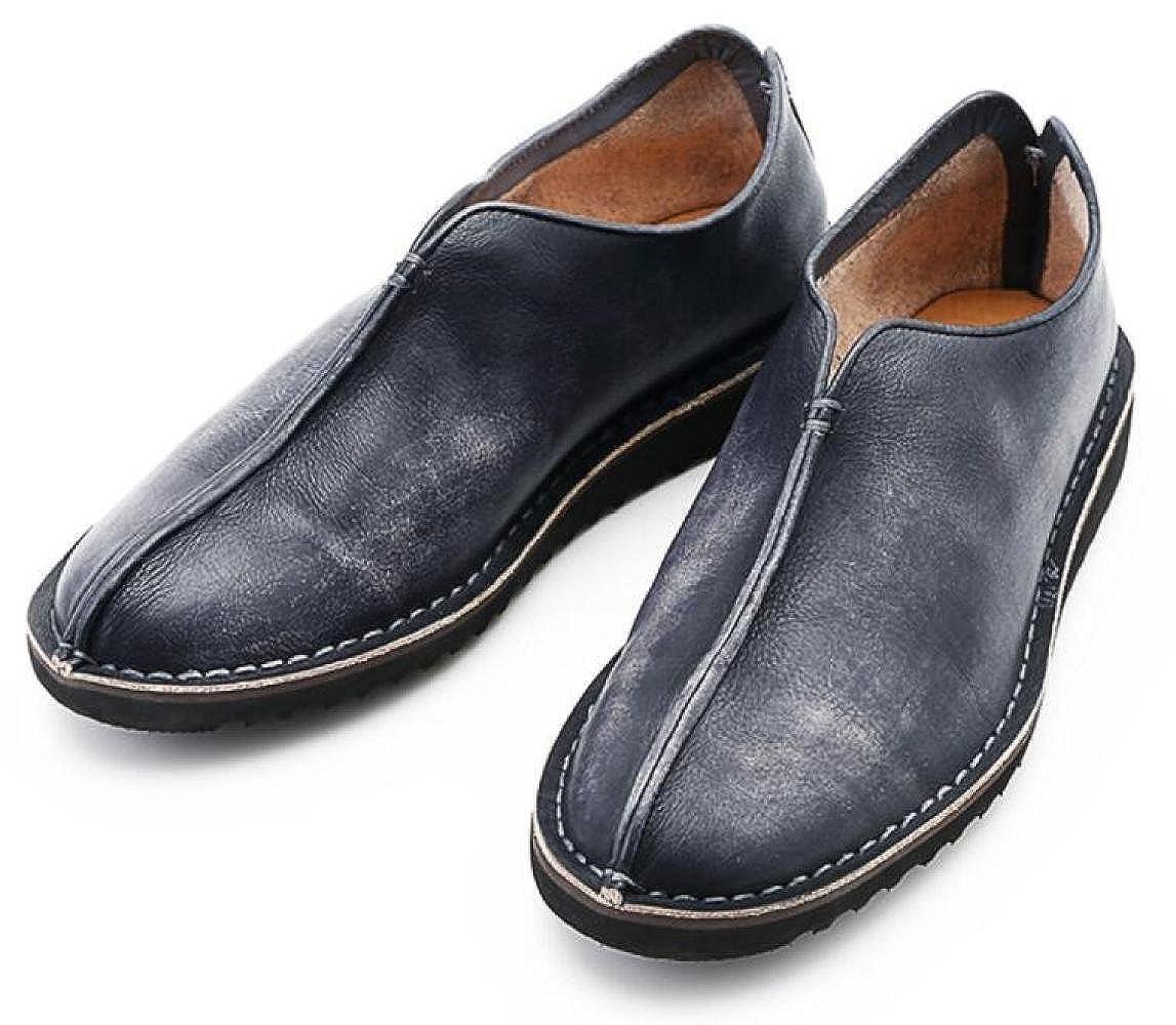 GTYMFH Herbst Retro Herrenschuhe Atmungsaktiv Lässig Faule Schuhe Lederschuhe