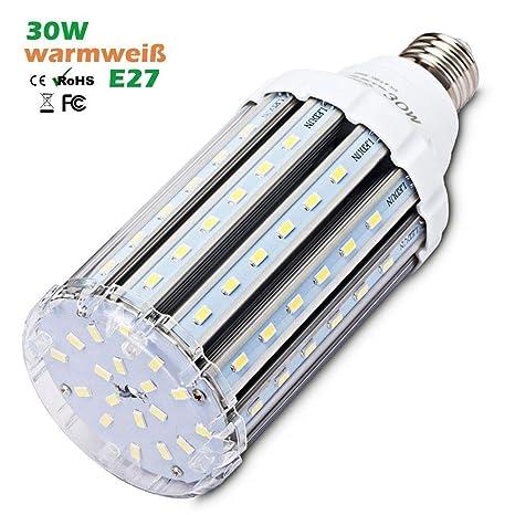 Fin 30W E27 LED Mais Lampe, Warmweiss 3000K Energiesparlampe AK-05