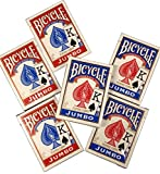 Bicycle Jumbo Index Playing Cards - 6 Decks