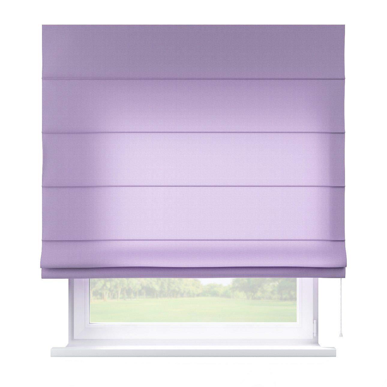 Dekoria Raffrollo Capri ohne Bohren Blickdicht Faltvorhang Raffgardine Wohnzimmer Schlafzimmer Kinderzimmer 130 × 170 cm Lavendel Raffrollos auf Maß maßanfertigung möglich