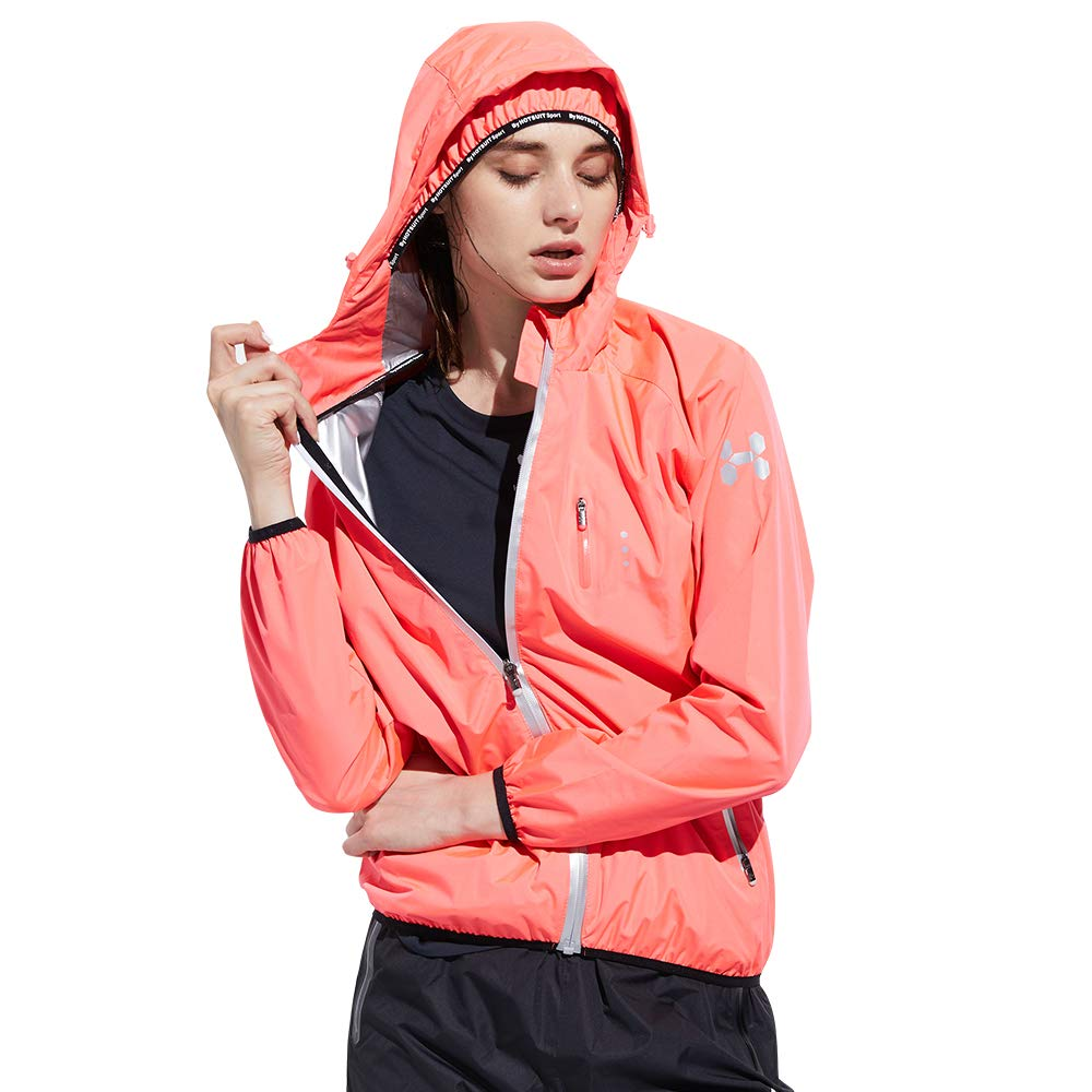 HOTSUIT Sauna Suit Weight Loss for Women Slim Fitness Clothes (Pink,Small)
