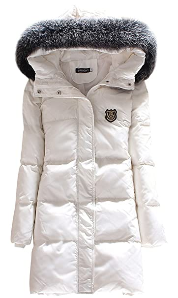 Amazon.com: ACE Shock Down Coat mujer MD largo con capucha ...