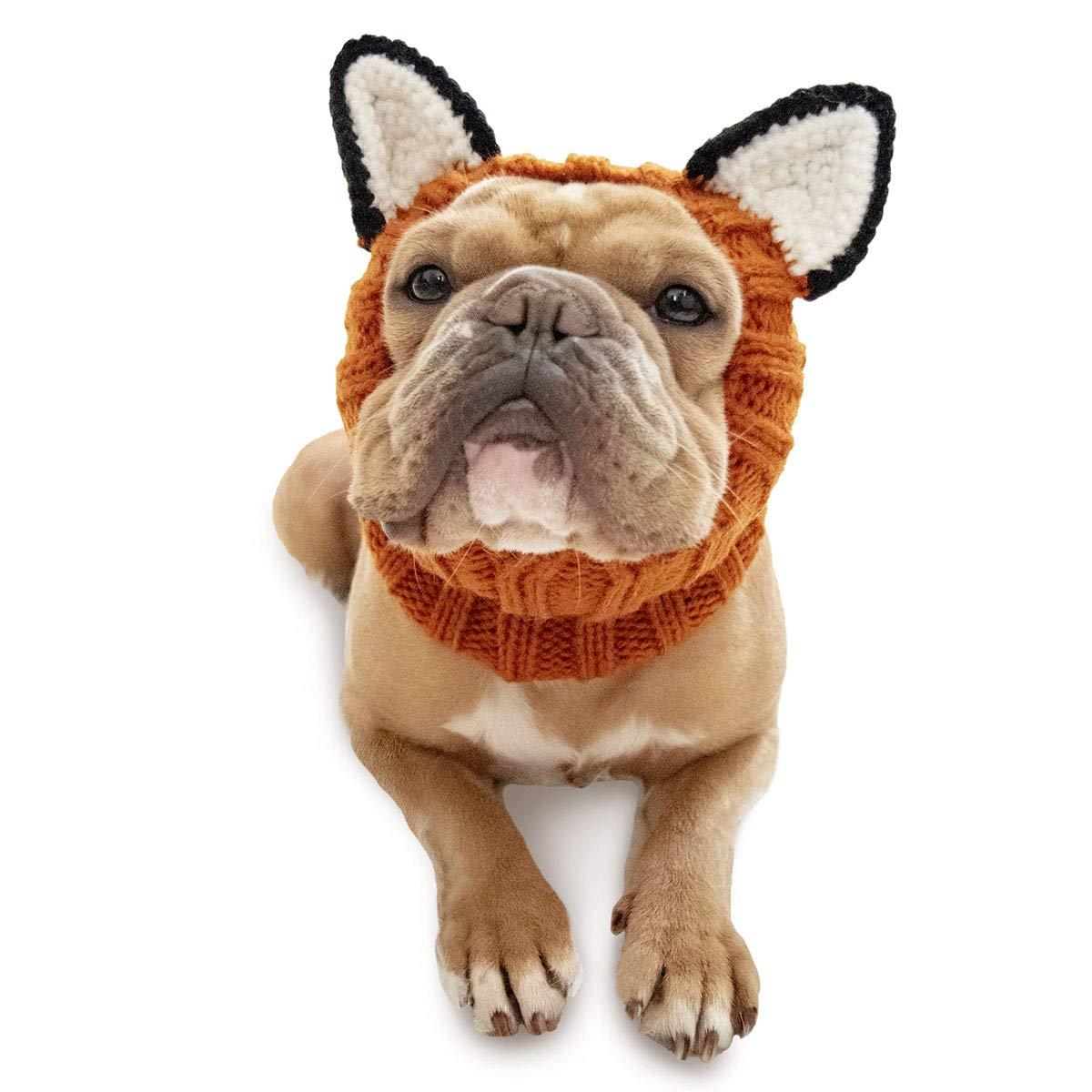 (Medium) Zoo Snoods The Original Knit Fox Dog Snood