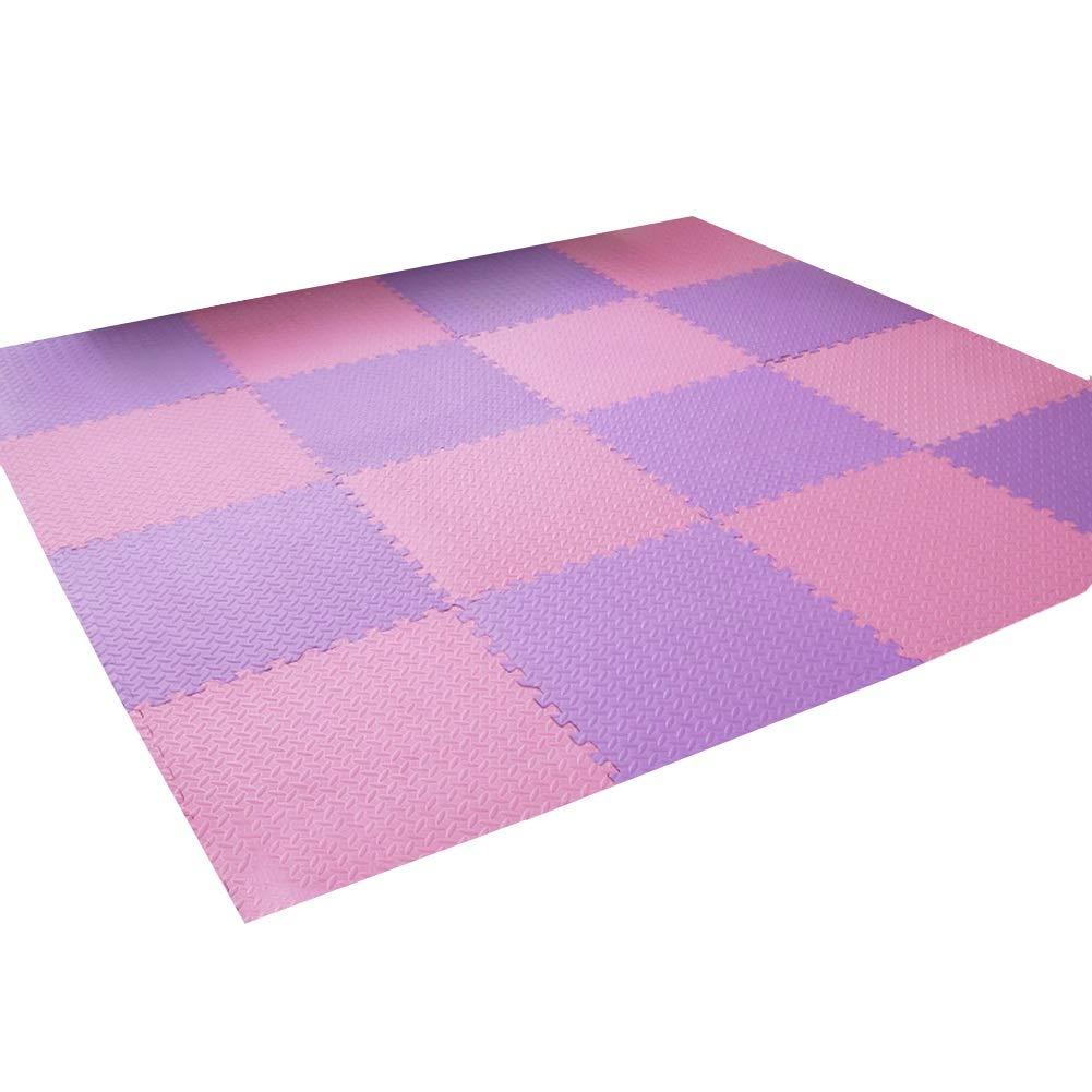 B 6pcs YUEWANG-Tappeto Puzzle Bambino PE Addensato Smorzamento Salotto Stanza dei Bambini Tappeto for Area Sportiva Facile uomoutenzione Spessore 12mm 7 Coloreei, Opzionale (Coloree   F, Dimensione   8pcs)