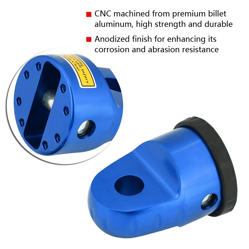 Azul Qiilu Aluminum Winch Link Connection Hook Mount W//Titanium Pin /& Rubber Guard for UTV ATV Winch Line