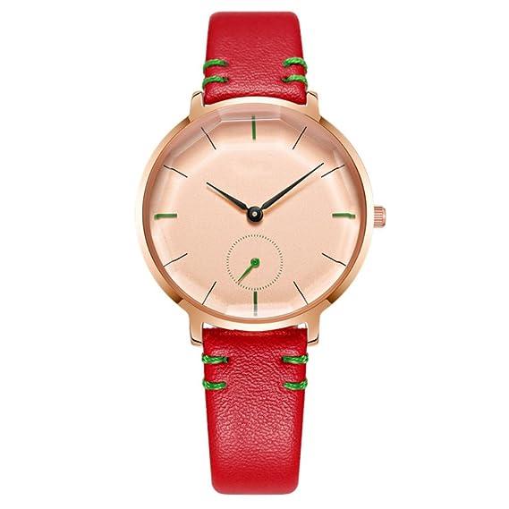 Reloj de pulsera para mujer 2018 con reloj de cuarzo impermeable de cuero para mujer: Amazon.es: Relojes