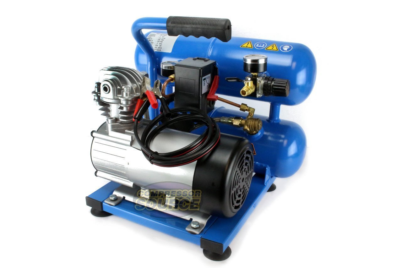 Amazon puma twin tank 12 volt 2 gallon oil less air amazon puma twin tank 12 volt 2 gallon oil less air compressor home improvement sciox Images