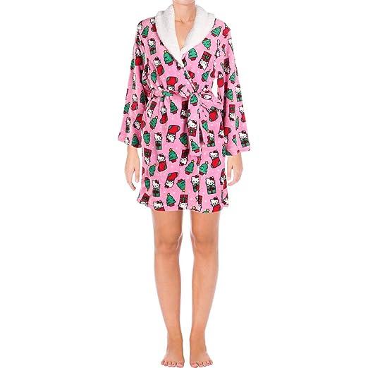 3c5cc62e3 Hello Kitty Women S Printed Plush Robe At Amazon Women S Clothing Store