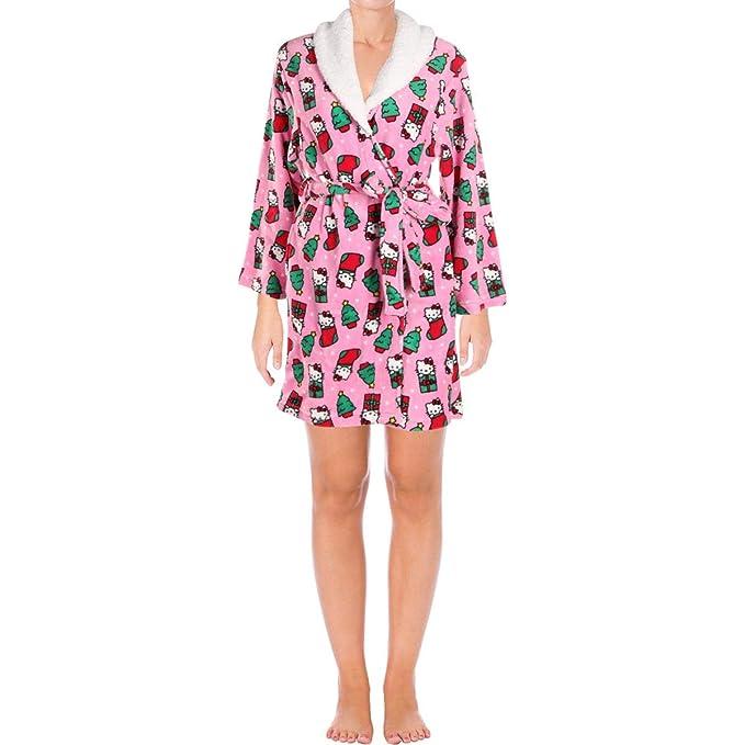 Amazon.com: Hello Kitty Navidad Diversión Plush Robe con ...