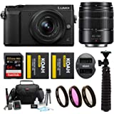 Panasonic LUMIX GX85 Mirrorless Camera (Black) Bundled with 12-32mm and 45-150mm Lenses, 64GB SD Card, and Accessory Bundle
