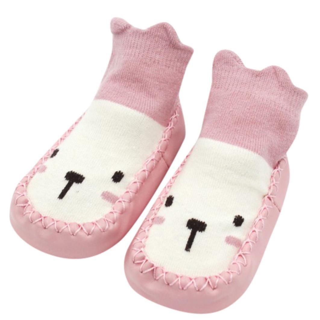 Jinjiu Baby Girl Shoes 1 Pair Cute Cartoon Unisex Toddler Baby Cotton Anti-slip Slipper Floor Socks Shoes