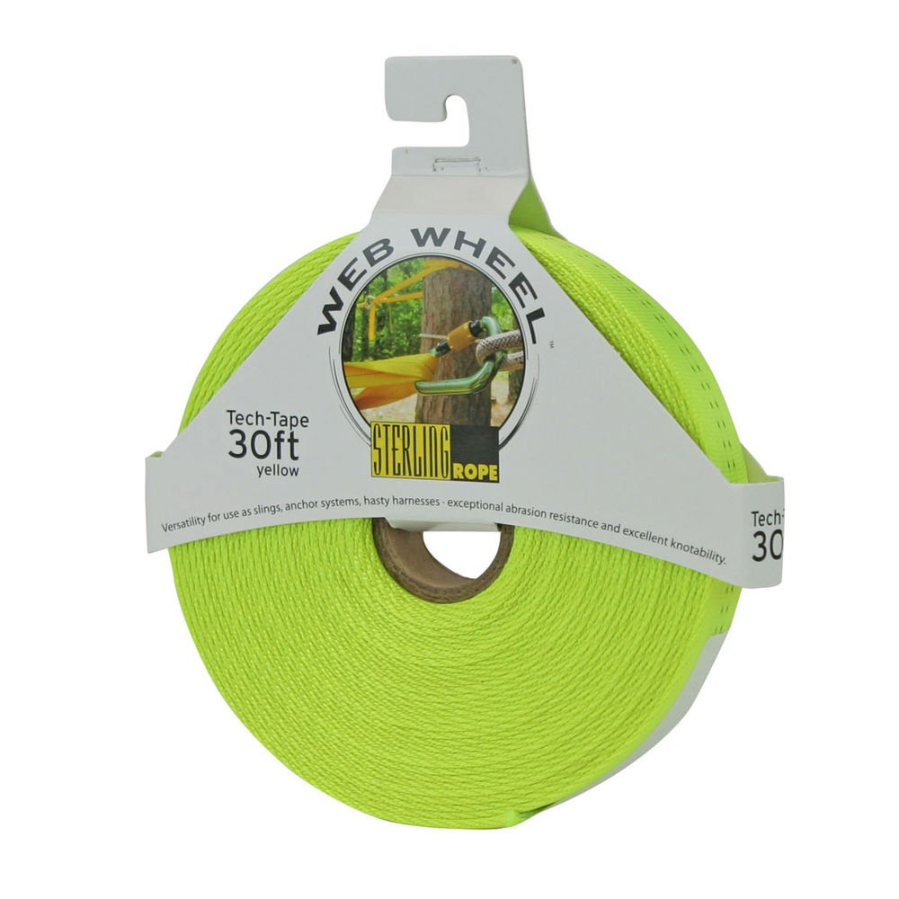 Sterling Rope Tech Tape Web Wheel 30' Neon Yellow by Sterling
