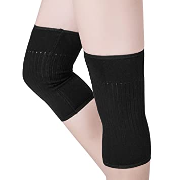 85522387d3 Pack 2 Lightweight Knee Brace Elastic Knee Sleeves Support Breathable Knee  Compression for Circulation Improvement Arthritis