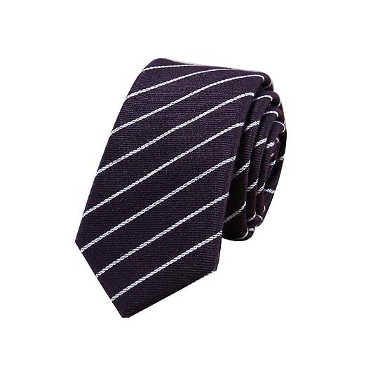 MoGist - Corbata de cuello estrecho para hombre, diseño a cuadros ...
