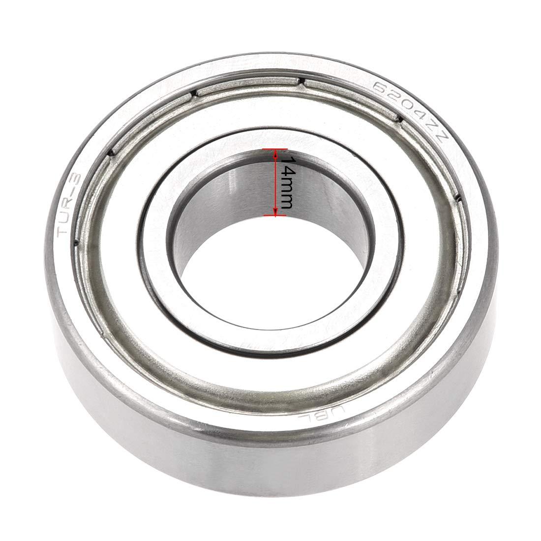 6204ZZ Ceramic ABEC-5 20mm//47mm//14mm 6204Z Stainless Ball Bearings