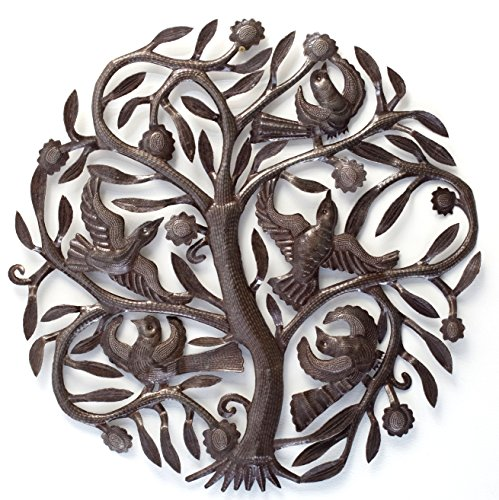 "Haitian Metal Art - Tree of Life - 23""x 23"""