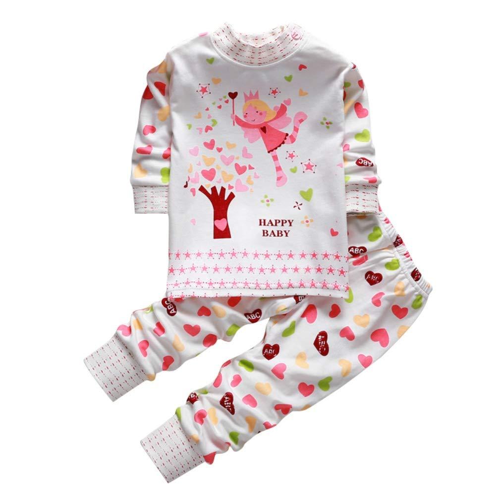 Baby Boy Girl Pyjama Set Niedlichen Schlafanzug 2 Stück Baumwolle Cartoon Kleinkind Homewear