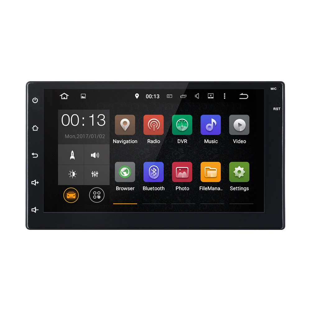 7 Inch Car Radio GPS Navigation Bluetooth Double 2 DIN In dash High Definition Touch Screen Android 5.1 Car 1080P Video Player Stereo Receiver Head Unit with Mirror Link WiFi