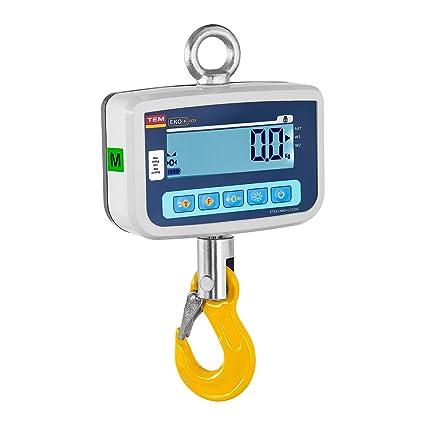 TEM Dinamómetro Báscula Digital CEKO+LCD500V-BB (4 kg - 500 kg,