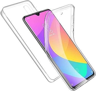 RosyHeart-EU Funda para Xiaomi Mi 9 Lite, Transparente Carcasa para Xiaomi Mi 9 Lite TPU Silicona + PC Dura Doble Cara 360° Cuerpo Completo Protectora Case, Ultra-Delgado Anti-Arañazos Suave Case: Amazon.es: Electrónica