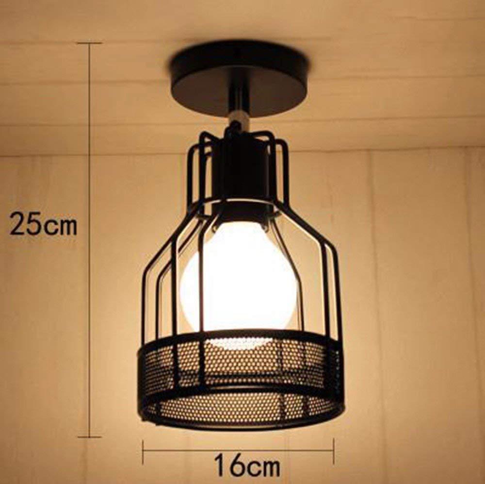 Zhang Yan ZYY  Pendelleuchte Kronleuchter Vintage Retro Eisen Personalisierte Einfache Einzigen Kopf Deckenleuchte Korridor Lampen 16  25 cm Restaurant Dekoration