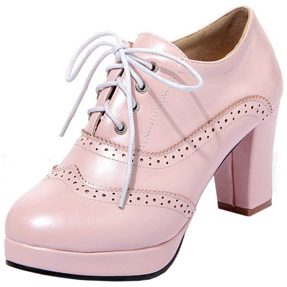 Zanpa Damen Mode Plateau Oxford Schuhe40 EU / 41 AS / 25.5 CM|Pink