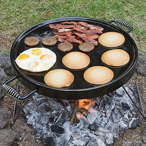 Bayou Classic 500-428 18-Inch Portable Campfire Griddle