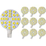 GRV T10 921 194 24-5050 SMD LED Bulb lamp Super Bright Warm White AC/DC 12V -28V Pack of 10