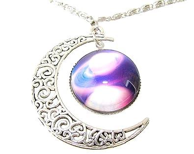 cb61f0ed601d Tanglz Pendentif Collier Lune et Galaxie Mystique païen Livraison Gratuit  avec Suivi
