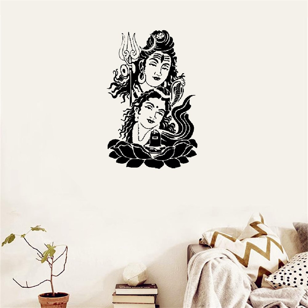 Rabbitsticker Stickers Vinyl Wall Art Decals Letters Quotes Decoration Jai Shiv and Parvati