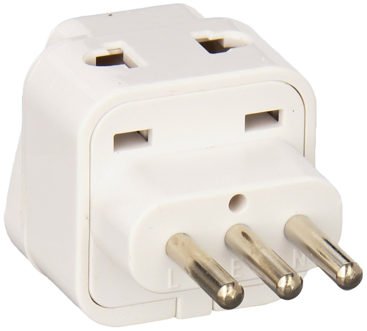 CKITZE BA-12AN Grounded Universal 2 in 1 Plug Adapter Type L for Italy, Uruguay & more - CE Certified